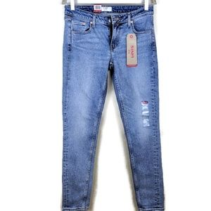 Levi's 711 Altered Skinny Jeans Light Wash sz 28